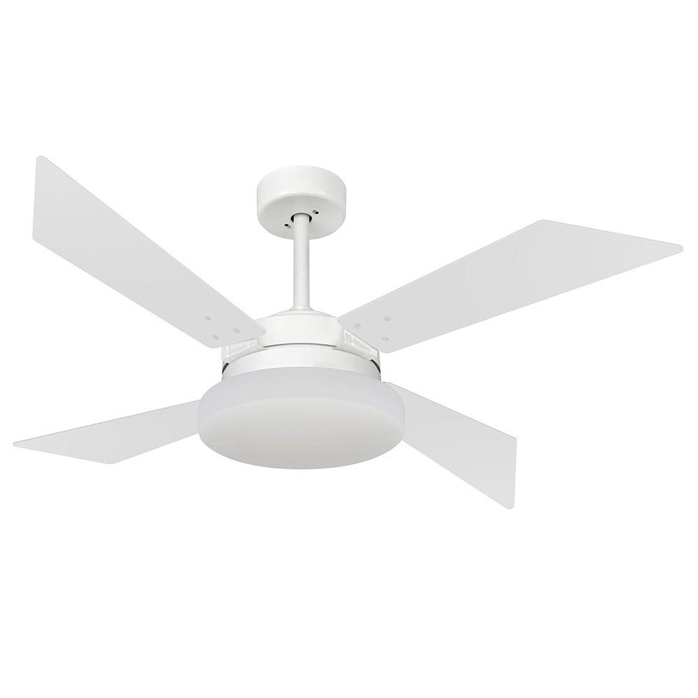 Ventilador de Teto Volare VD50 Tech Branco Fosco 4 Pás Branco