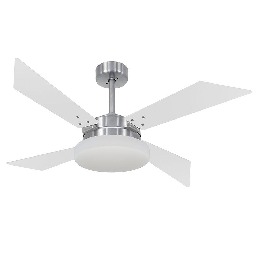 Ventilador de Teto Volare VD50 Tech Escovado 4 Pás Branco