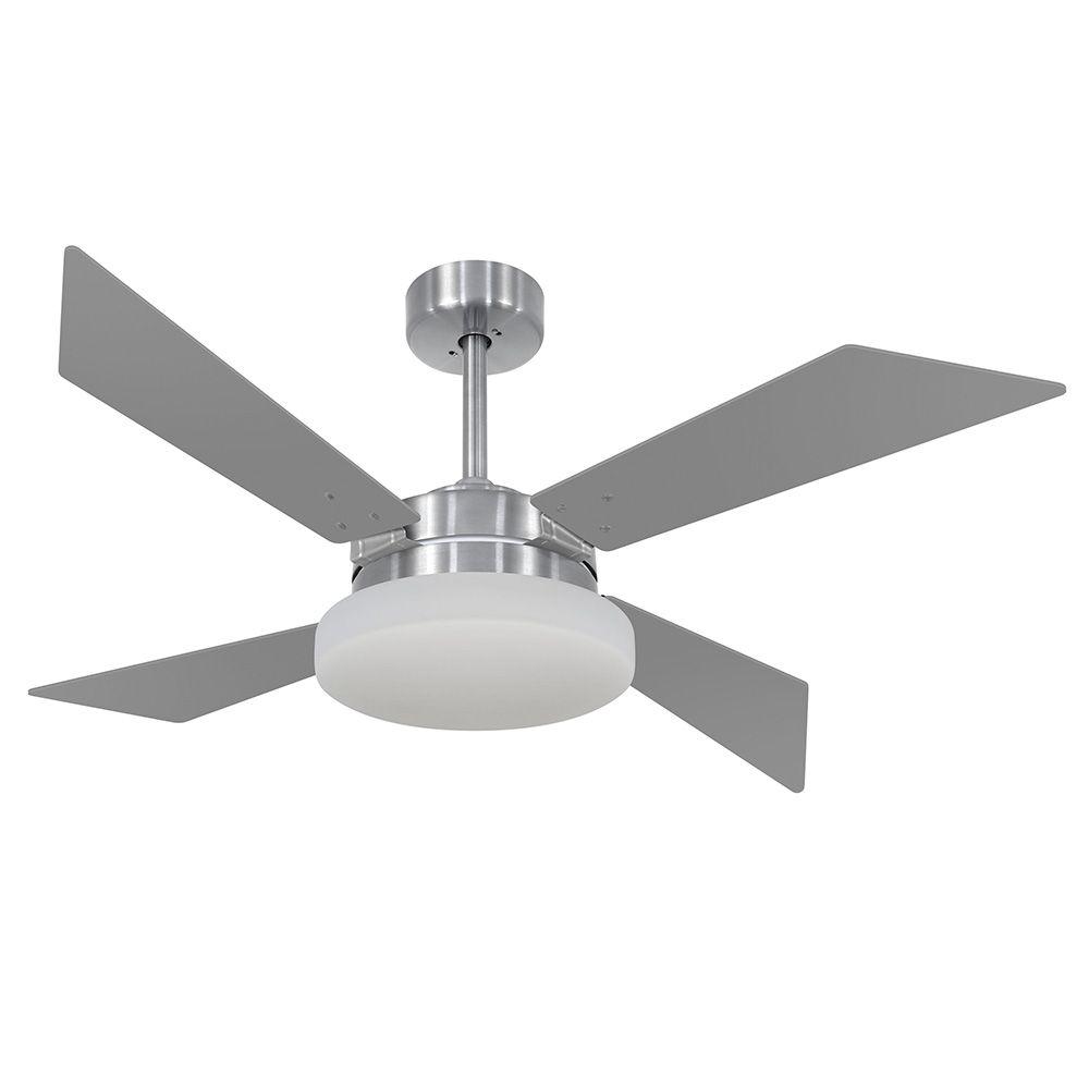 Ventilador de Teto Volare VD50 Tech Escovado 4 Pás Titânio