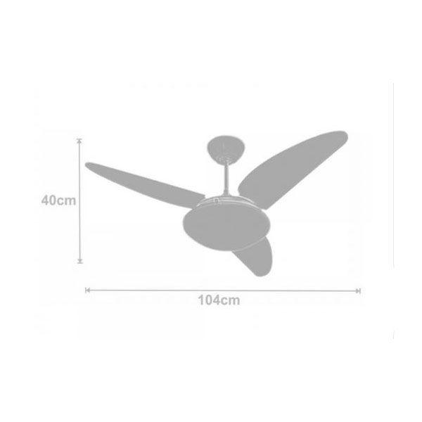 Ventilador de Teto Volare Ventax 10 Office 3 Pás Branco