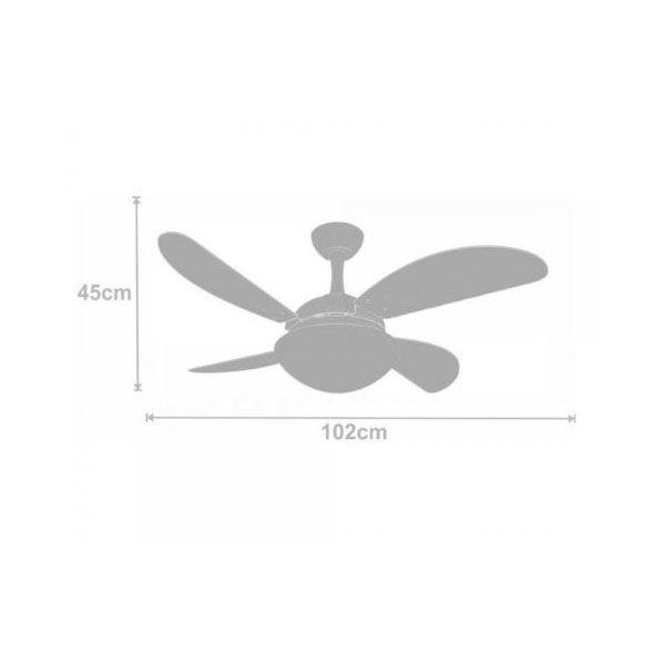 Ventilador de Teto Volare Ventax Due Fly 4 Pás Branco
