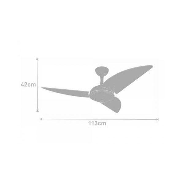 Ventilador de Teto Volare Ventax Office 3 Pás Branco