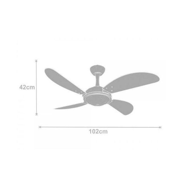 Ventilador de Teto Volare Ventax Office Fly 4 Pás Branco