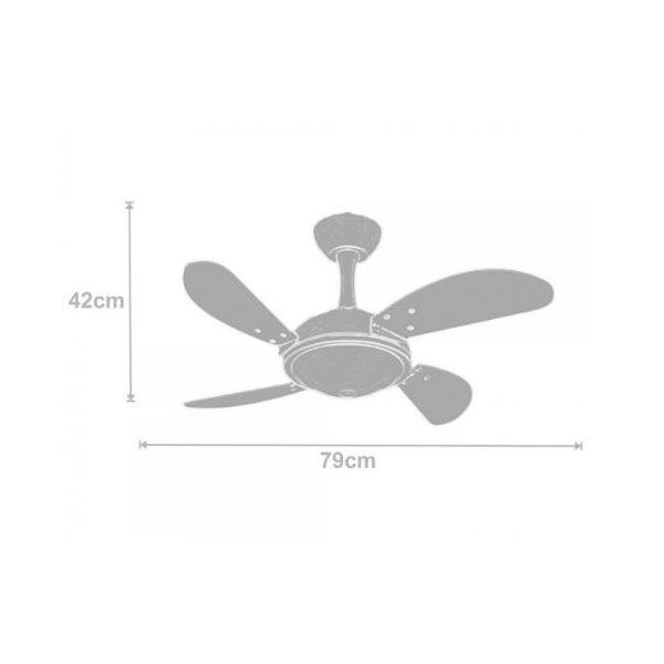 Ventilador de Teto Volare Ventax Office Mini Fly 4 Pás Branco
