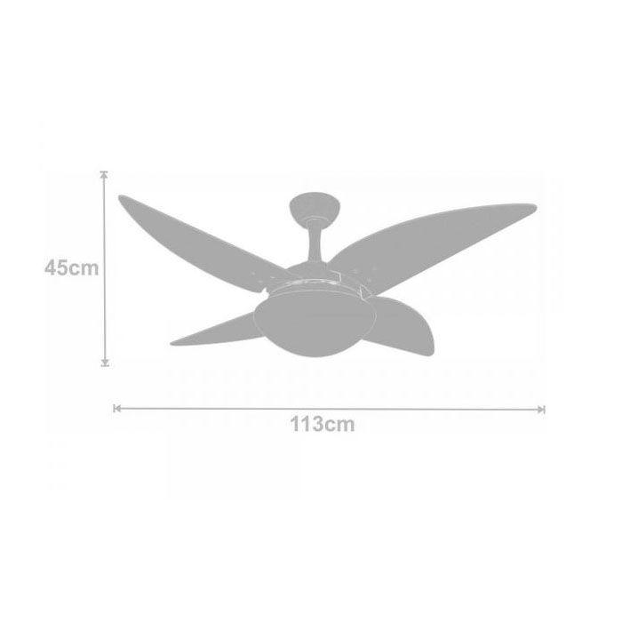 Ventilador de Teto Volare Ventax Due 4 Pás Branco