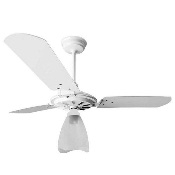 Ventilador de Teto Yris 150w 180w Branco Pás Brancas Ventex