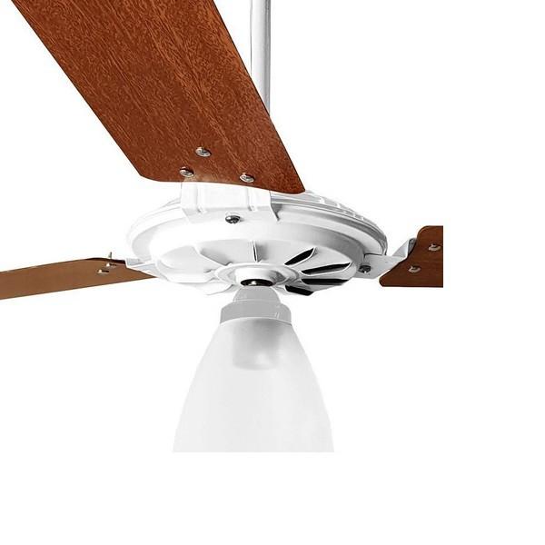 Ventilador de Teto Yris 150w e 180w Branco Pás Mogno Ventex