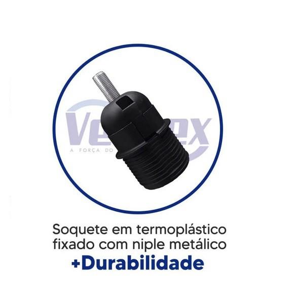 Ventilador de Teto Yris 150w e 180w Preto Pás Mogno Ventex