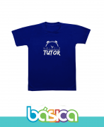 Camiseta Manga Curta Azul Tutor School