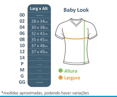 Baby Look Oshiman  - BÁSICA UNIFORMES