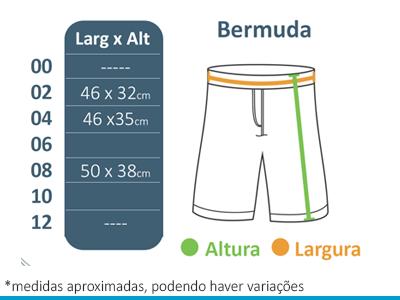 Bermuda de Microfibra A Doce Vida  - BÁSICA UNIFORMES