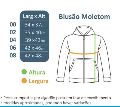 Blusão de Moletom c/ Capuz Laranja - Vila da Arte  - BÁSICA UNIFORMES
