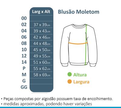 Blusão de Moletom s/ Capuz Colégio Brasil Canadá  - BÁSICA UNIFORMES
