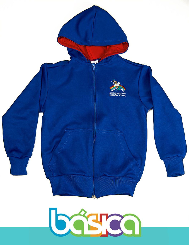 Blusão PoliAlgodão Rainbow School  - BÁSICA UNIFORMES
