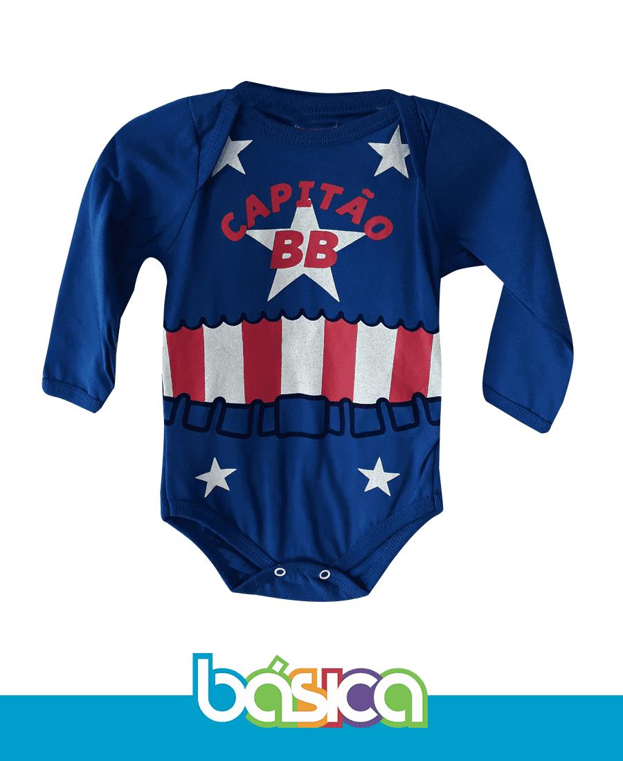 Body Capitão América Bebê  - BÁSICA UNIFORMES