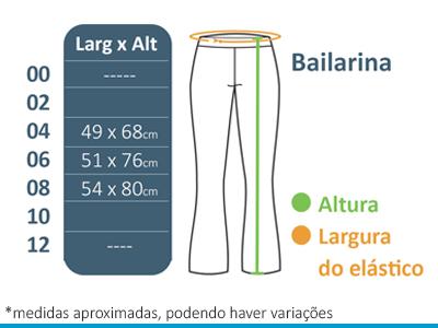 Calça Bailarina A Doce Vida  - BÁSICA UNIFORMES