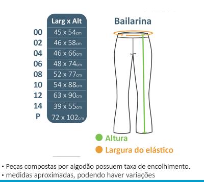 Calça Bailarina Colégio Brasil Canadá  - BÁSICA UNIFORMES