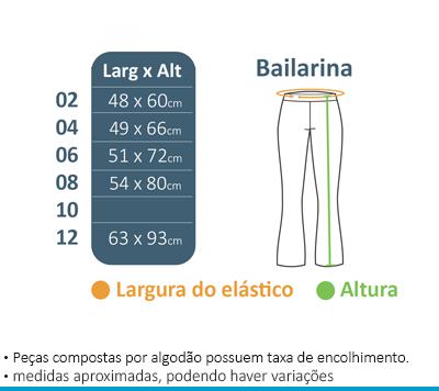 Calça Bailarina - Maria Maria  - BÁSICA UNIFORMES