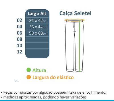 Calça de Seletel c/Forro - Maria Maria  - BÁSICA UNIFORMES