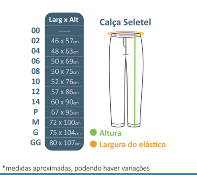 Calça de Seletel sem Forro Colégio Arcádia  - BÁSICA UNIFORMES