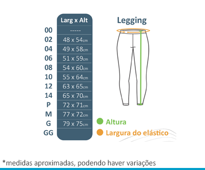 Calça Legging Helanca Lumen Vitae  - BÁSICA UNIFORMES