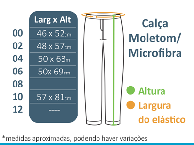 Calça Microfibra Sem Forro A Doce Vida  - BÁSICA UNIFORMES