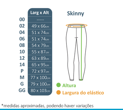 Calça Skinny Colégio Arcádia  - BÁSICA UNIFORMES
