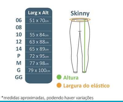 Calça Skinny FIAP School  - BÁSICA UNIFORMES
