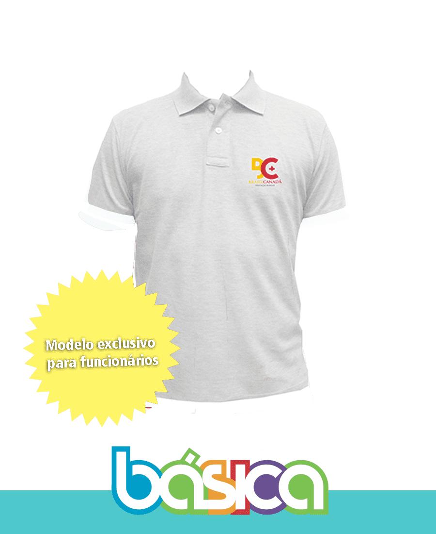 Camisa Polo Branca - Colégio Brasil Canadá  - BÁSICA UNIFORMES