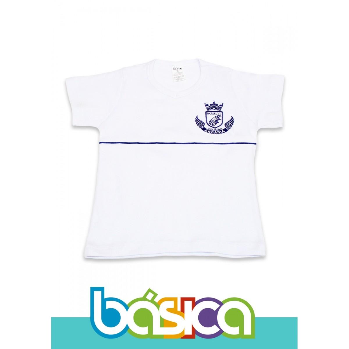 Camiseta Baby Look Canelada Colégio Arcádia  - BÁSICA UNIFORMES