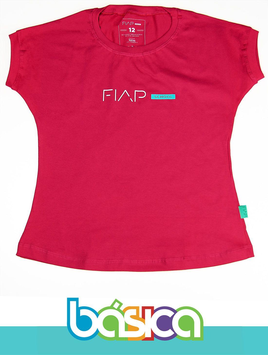 Camiseta M/C Feminina Magenta FIAP SCHOOL  - BÁSICA UNIFORMES