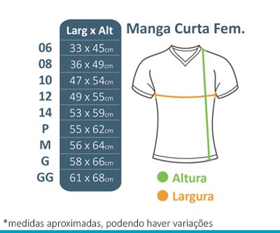 Camiseta M/C Feminina Preta FIAP SCHOOL  - BÁSICA UNIFORMES