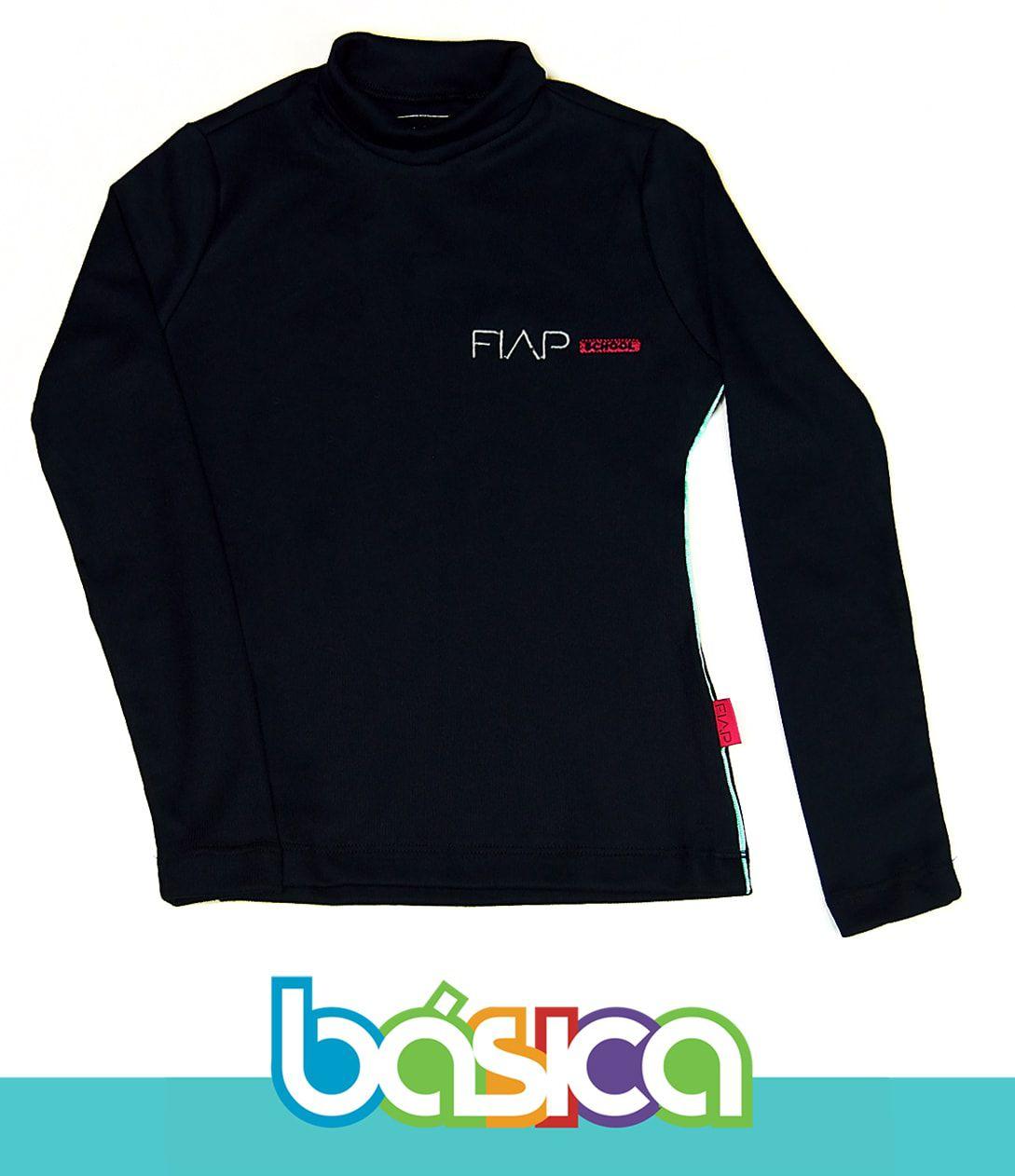 Camiseta M/L Feminina Preta FIAP SCHOOL  - BÁSICA UNIFORMES