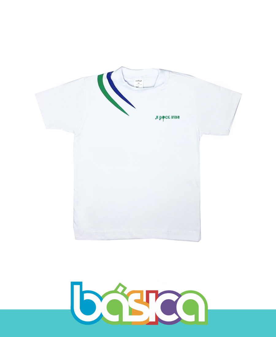 Camiseta Manga Curta Grafismo A Doce Vida  - BÁSICA UNIFORMES