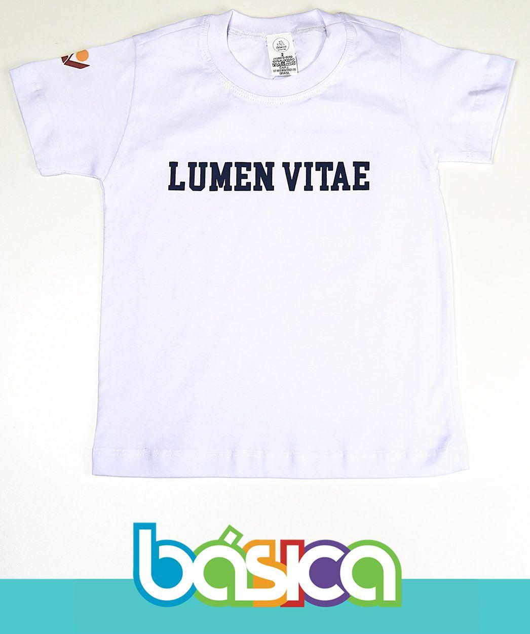 Camiseta Manga Curta Branca Lumen Vitae  - BÁSICA UNIFORMES