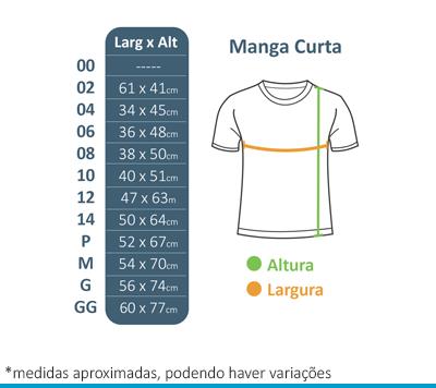 Camiseta Manga Curta Colégio Arcádia - Anterior  - BÁSICA UNIFORMES
