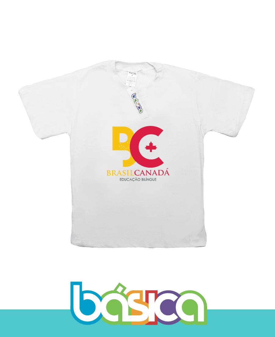 Camiseta Manga Curta Colégio Brasil Canadá  - BÁSICA UNIFORMES