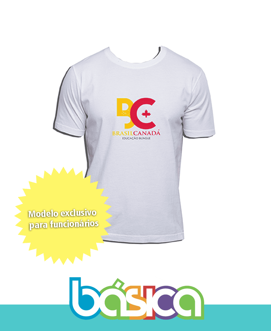 Camiseta Manga Curta - Colégio Brasil Canadá  - BÁSICA UNIFORMES