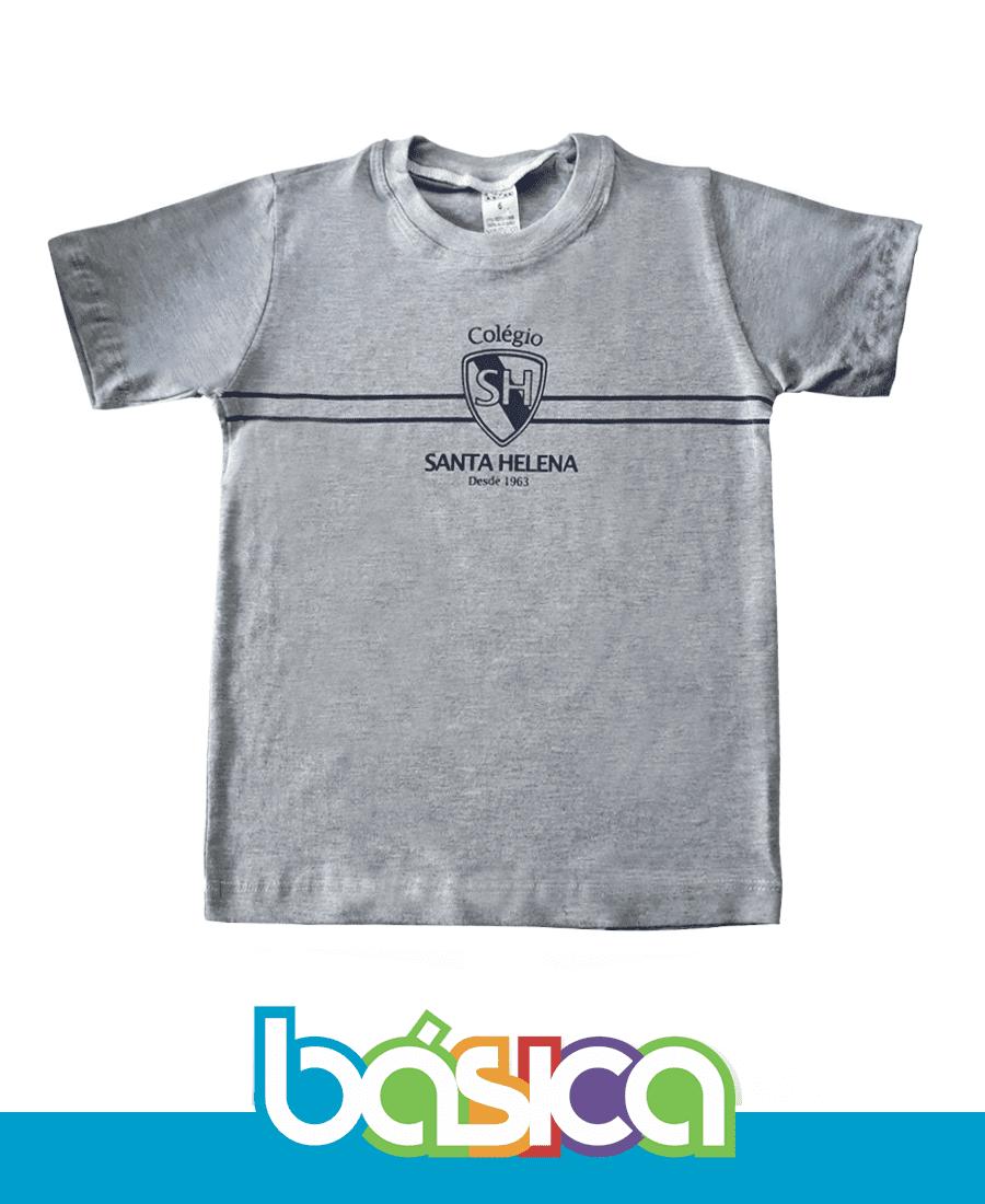 Camiseta Manga Curta Colégio Santa Helena  - BÁSICA UNIFORMES