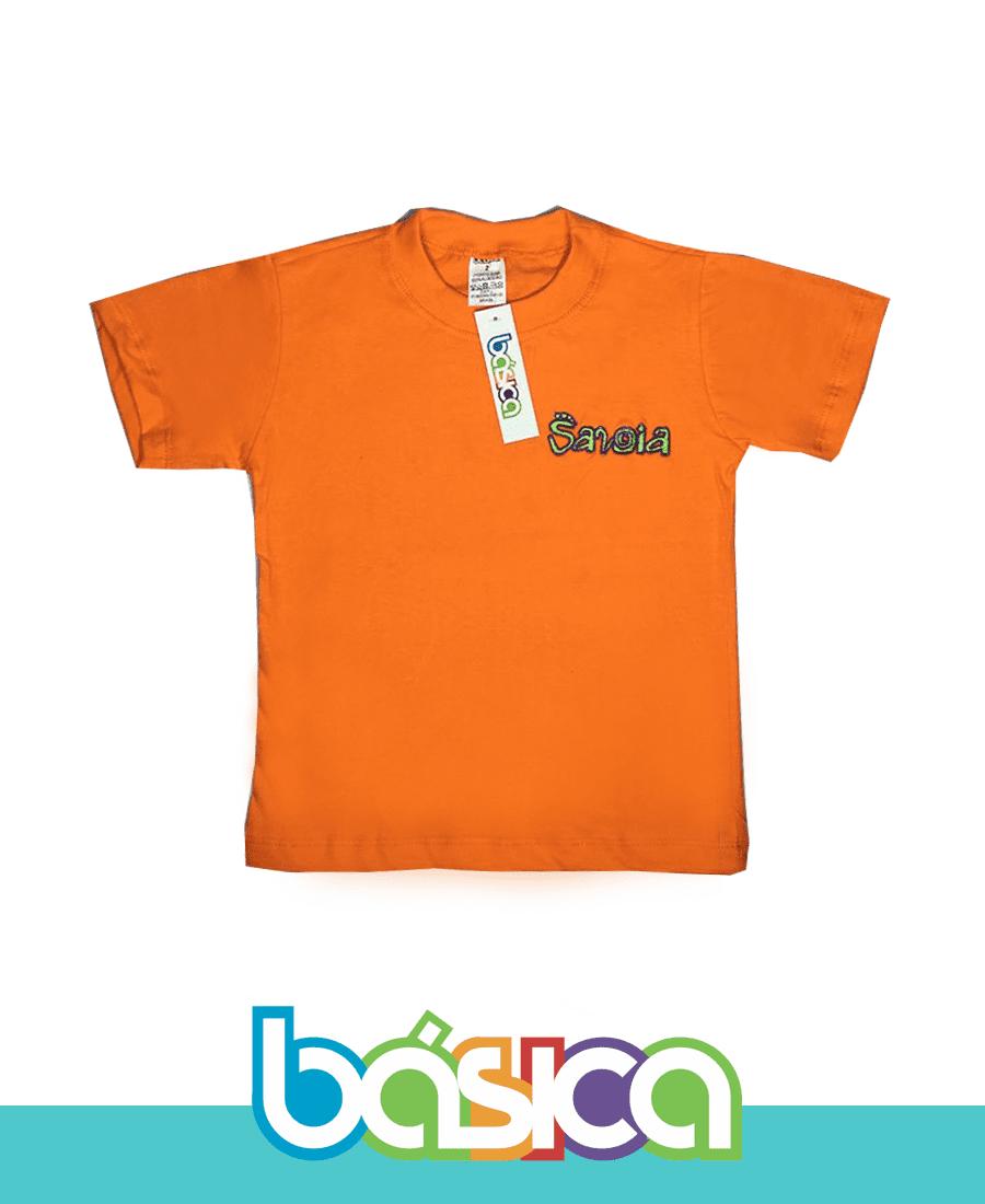 Camiseta Manga Curta Colorida - Colégio Savoia  - BÁSICA UNIFORMES