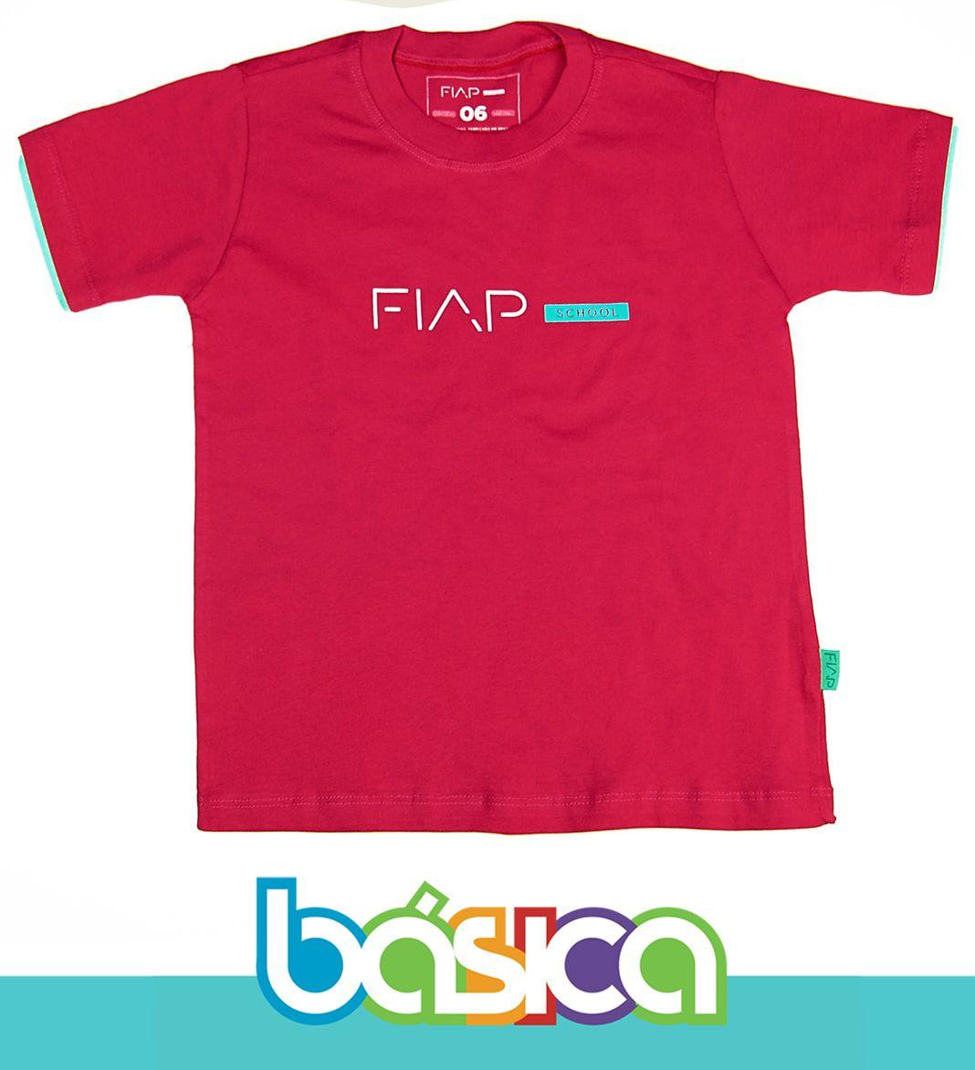 Camiseta Manga Curta Magenta FIAP SCHOOL  - BÁSICA UNIFORMES