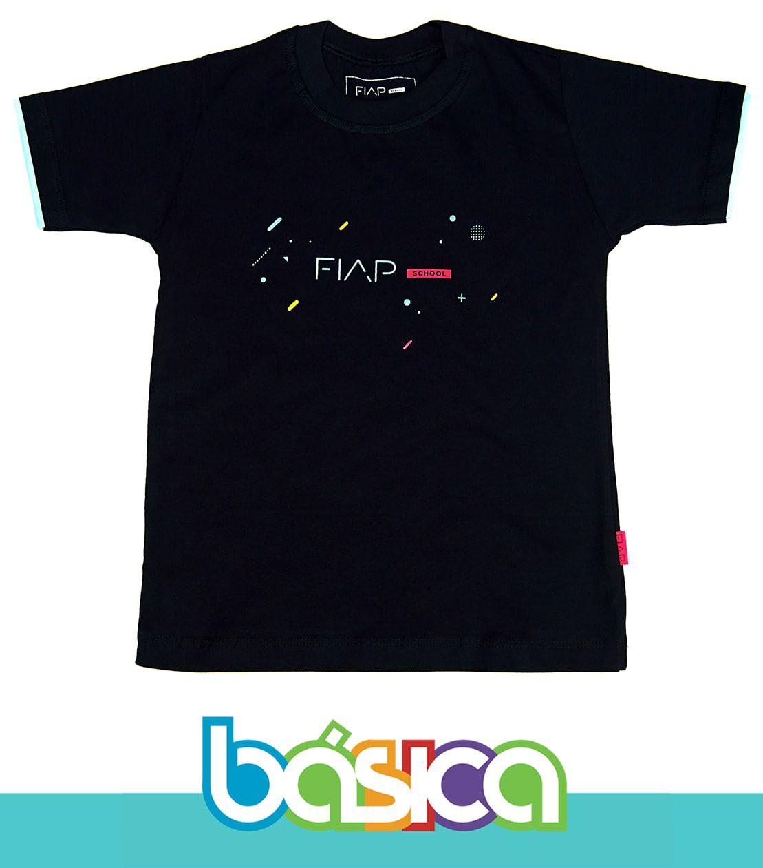 Camiseta Manga Curta Preta