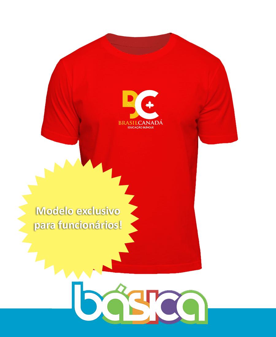 Camiseta Manga Curta Professores - Colégio Brasil Canadá  - BÁSICA UNIFORMES