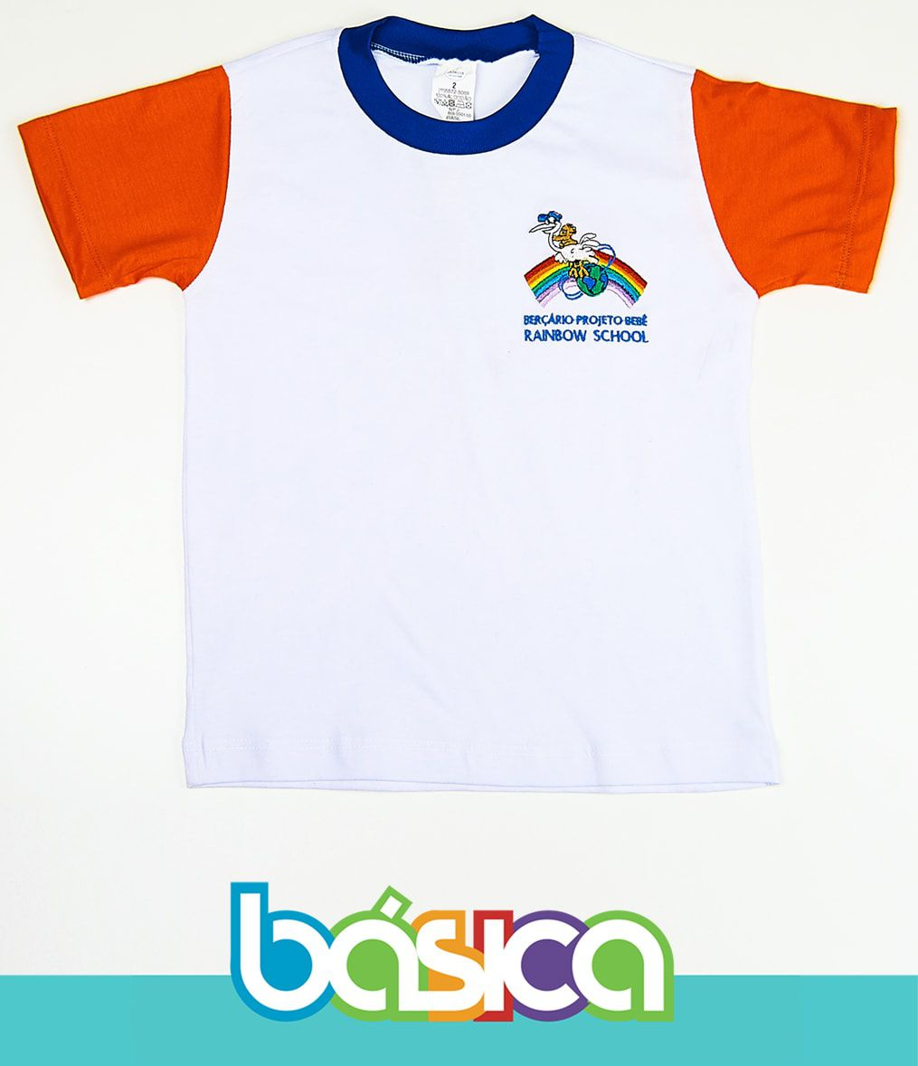 Camiseta Manga Curta Rainbow School  - BÁSICA UNIFORMES