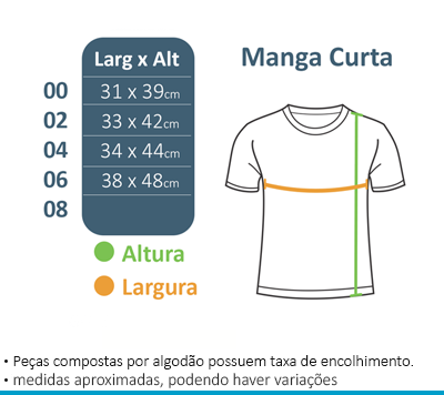 Camiseta Manga Curta - Vila da Arte  - BÁSICA UNIFORMES
