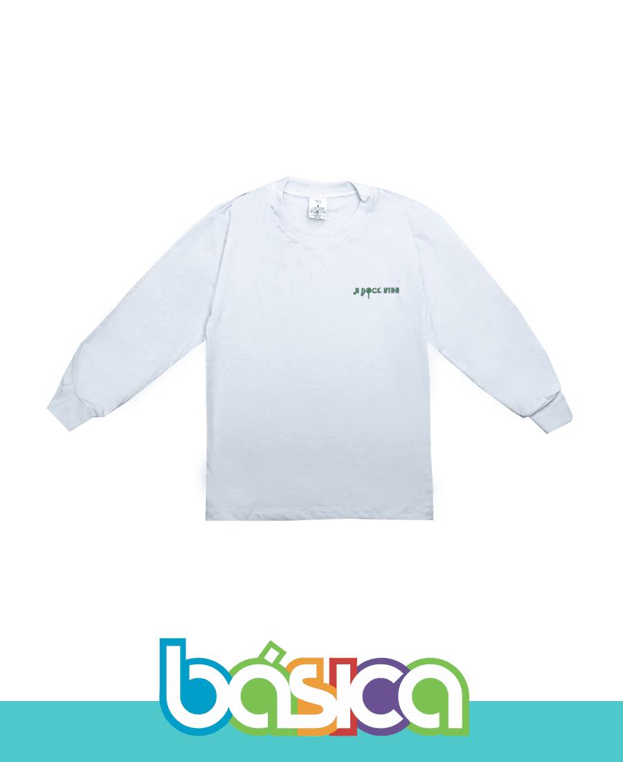 Camiseta Manga Longa A Doce Vida  - BÁSICA UNIFORMES