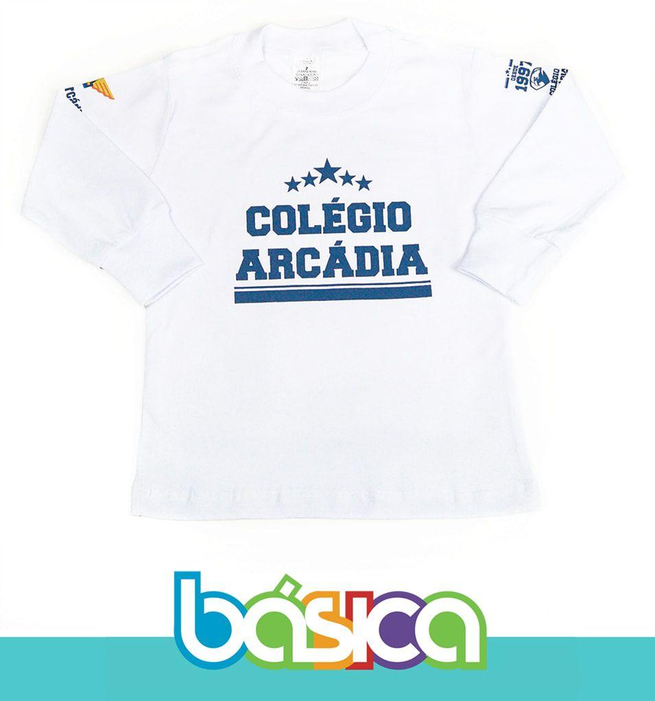 Camiseta Manga Longa Colégio Arcádia - Anterior  - BÁSICA UNIFORMES