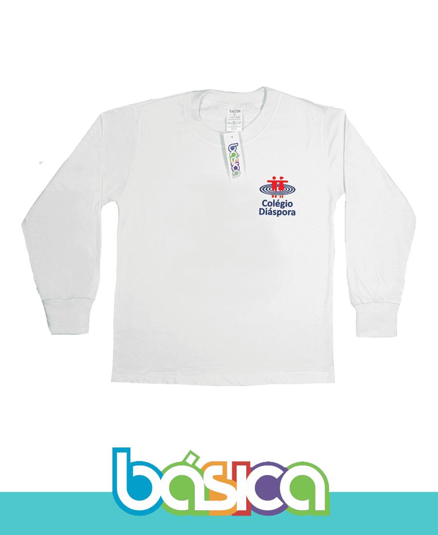 Camiseta Manga Longa Colégio Diáspora  - BÁSICA UNIFORMES