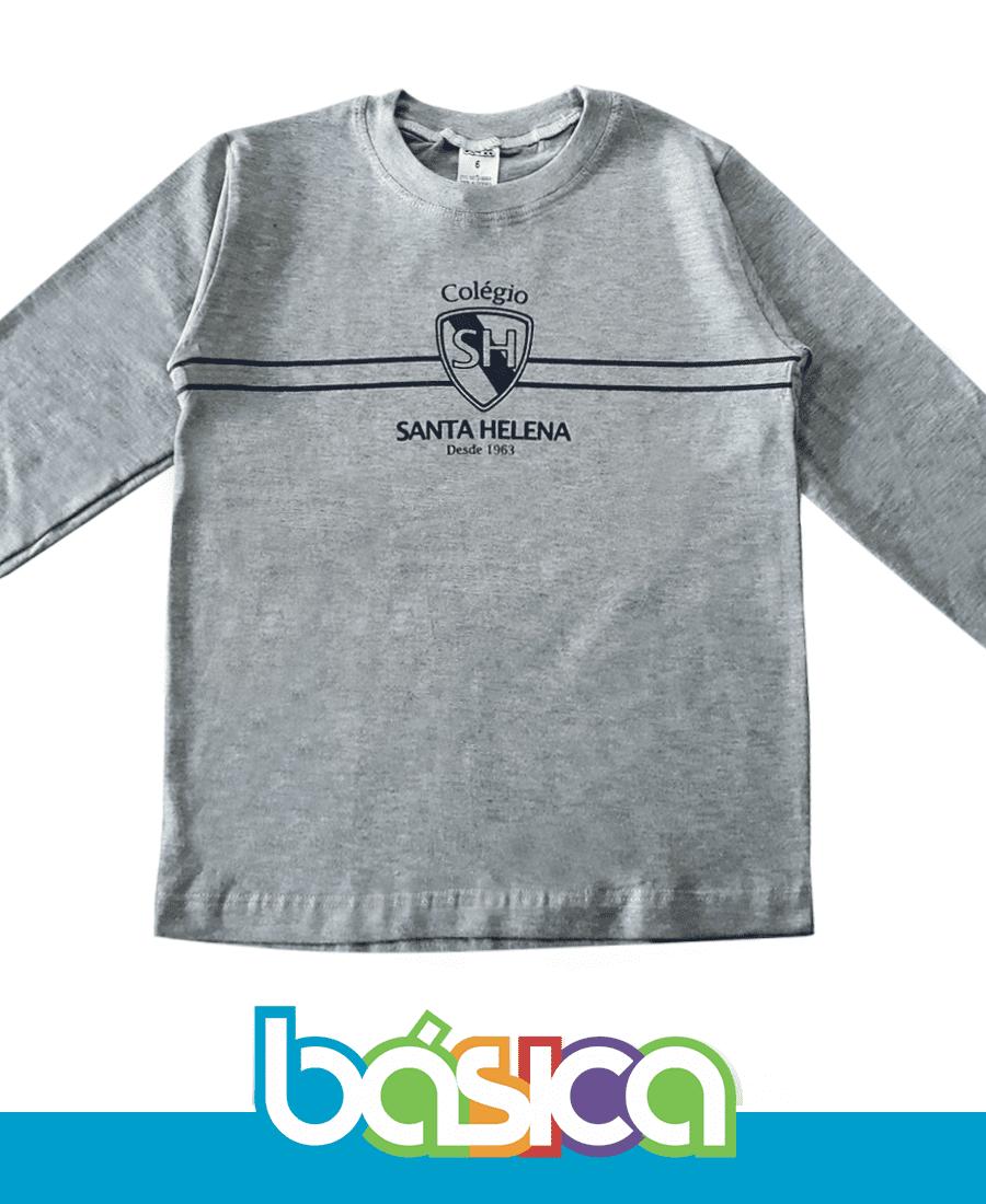 Camiseta Manga Longa Colégio Santa Helena  - BÁSICA UNIFORMES
