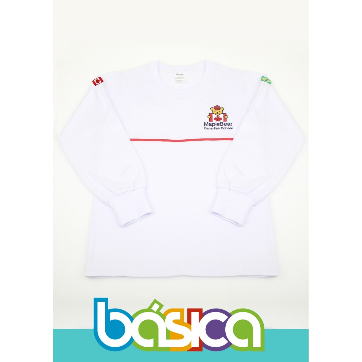 Camiseta Manga Longa Maple Bear Infantil  - BÁSICA UNIFORMES